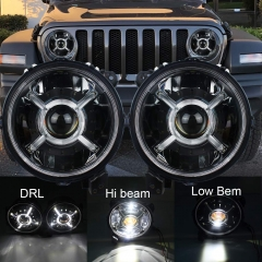 2018 2019 Jeep Wrangler Lampu Depan JL Oem Led 9 inchi Jeep Lampu Depan JL Oem Led