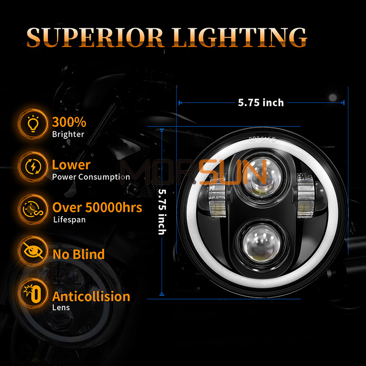 5.75 Harley Davidson Led Headlights Superior Lighting