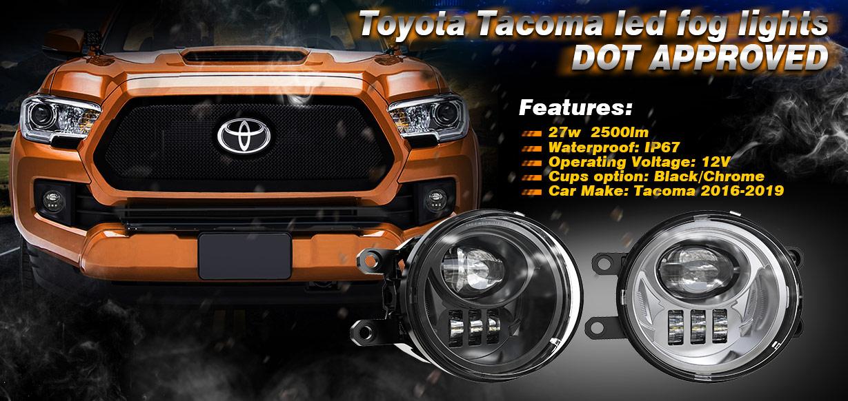 2016 2017 2018 2019 Toyota Tacoma Lampu Kabut Led Spanduk
