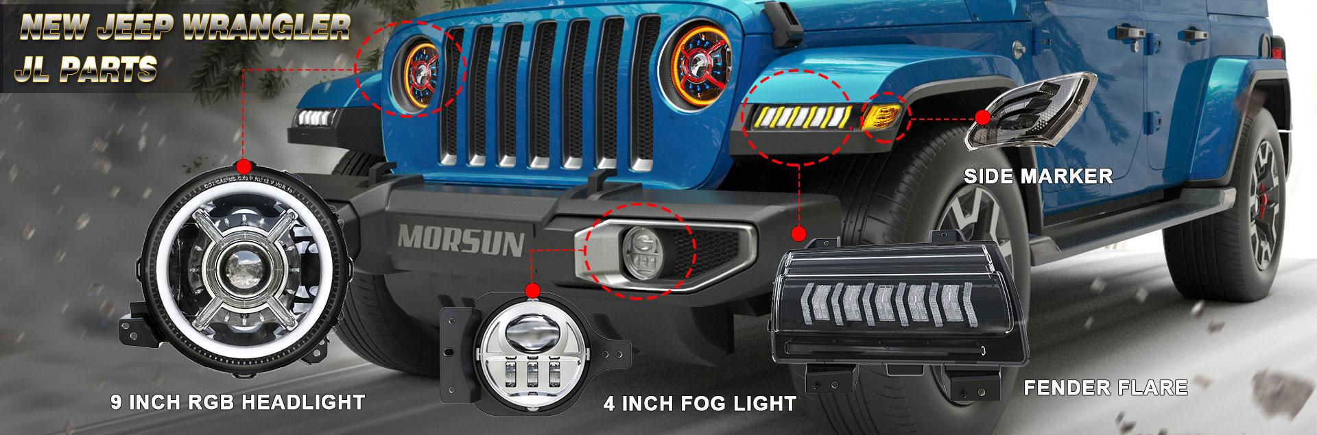 Lampu Led untuk Jeep Wrangler JL 2018 2019