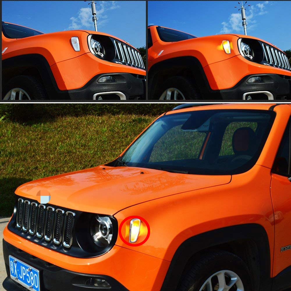 2015 2016 2017 2018 Jeep Renegade Front Turn Signal Bulb Replacement Led Amber Turn Signal