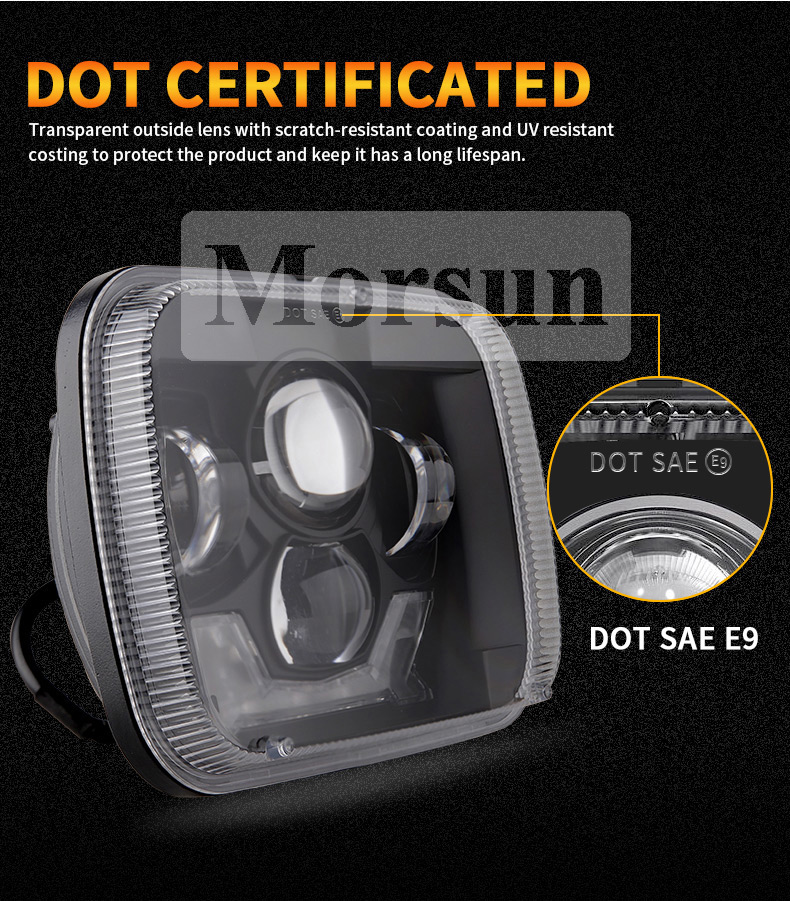 DOT SAE Jeep Cherokee XJ Led Headlights
