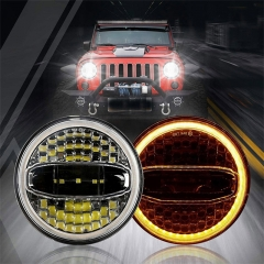 7 inji Wareeg ah Jeep Jk Oem Led Laydhka leh Halo Lights Jeep Jk Factory Led Headlights Golaha