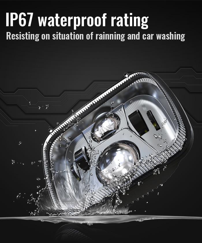 IP67 Waterproof 5x7 Sealed Beam H6054 Led Headlight
