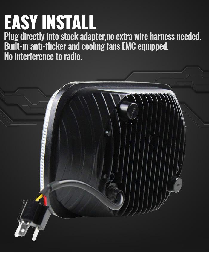 Pemasangan Mudah Penggantian Lampu Led H5054 H6054