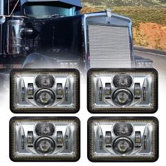 4x6 हेलो हेडलाइट्स केनवर्थ T800 एलईडी हेडलाइट्स T800 केनवर्थ T800 रिप्लेसमेंट हेडलाइट्स प्रोजेक्टर के लिए