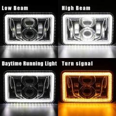 4x6晕头灯Kenworth T800 LED头灯,用于T800 Kenworth T800替换头灯投影仪