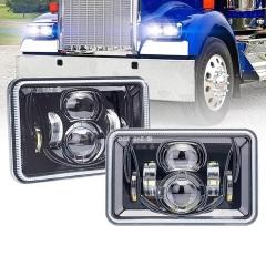 4x6 Sealed Beam Led Headlights H4651 H5051 H4656 H4652 H5062 Headlight untuk Kenworth T800 Peterbilt 379 Freightliner FLD120