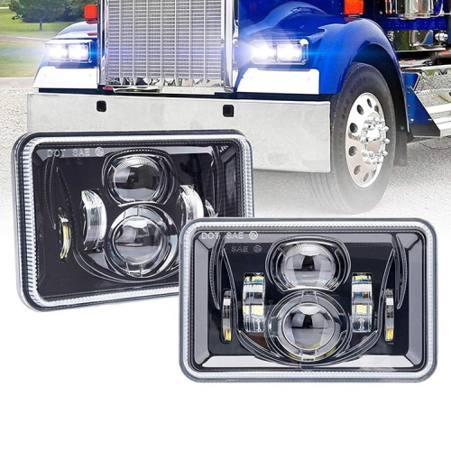 4x6 Sealed Beam Led Headlights H4651 H5051 H4656 H4652 H5062 Headlight for Kenworth T800 Peterbilt 379 Freightliner FLD120