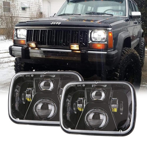 H6054 Led Headlight 5x7 Sealed Beam H5054 H6054 Led Replacement Jeep xj Headlight Conversion Upgrade