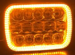 untuk jeep xj led headlight square projector 5x7 inch led headlight untuk wrangler cherokee xj