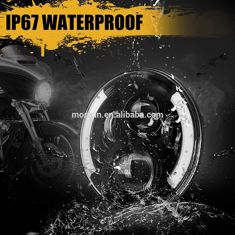 IP67 Waterproof  7 Round Led Headlight with Turn Signal