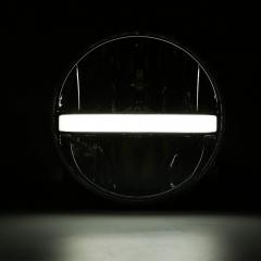 Faro LED de 7 pulgadas para faro de proyector Royal Enfield con señales de giro DRL de haz alto y bajo