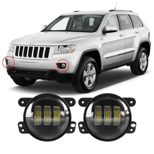 4 inch 2013 2012 2011 Jeep Grand Cherokee Led Fog Lights Driving Lamps