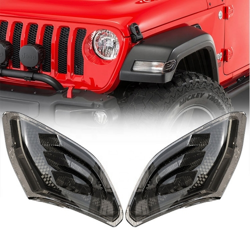 Smoked Jeep JL Side Marker Light Led 2018 Jeep Wrangler Smoked Side Marker Lights Replacement