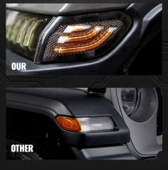 Merokok Jeep JL Side Marker Light Led 2018 Jeep Wrangler Penggantian Lampu Marker Sisi Asap