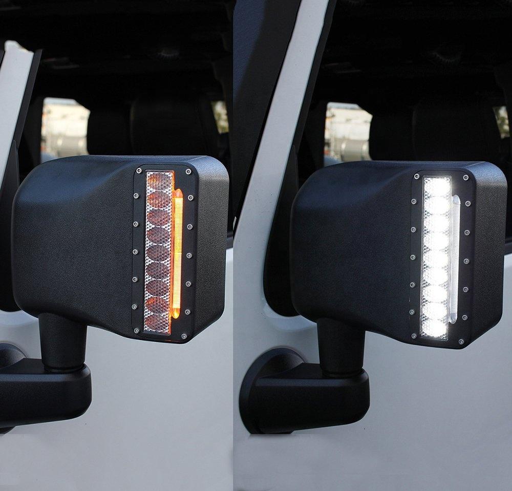 Jeep Kaca spion lampu led JK Jeep Wrangler penggantian lampu spion