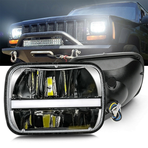 1986-1992 Jeep Comanche Headlight 4x7 pulgada Parihabang Jeep Ang Comanche MJ Led Headlight Kapalit