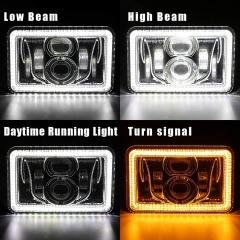 1982-1992 Third Gen Camaro Led Headlights 4x6 inch Third Gen Camaro Halo Headlights