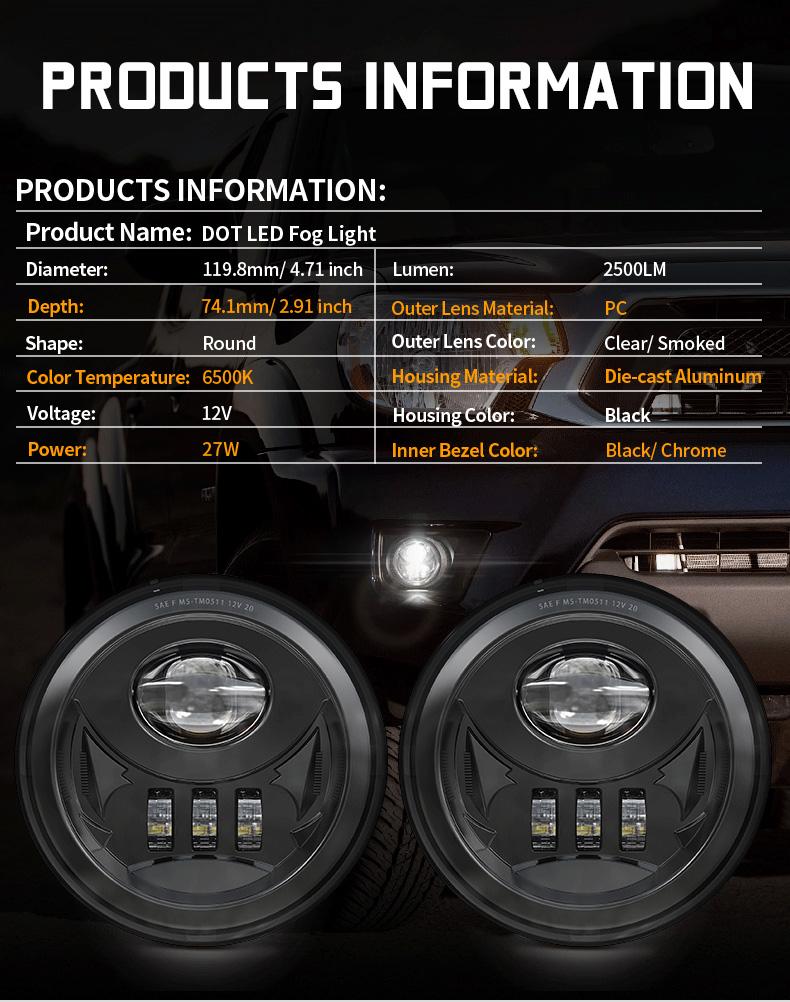 Spesifikasi Lampu Kabut Led Toyota Tacoma 2005-2011