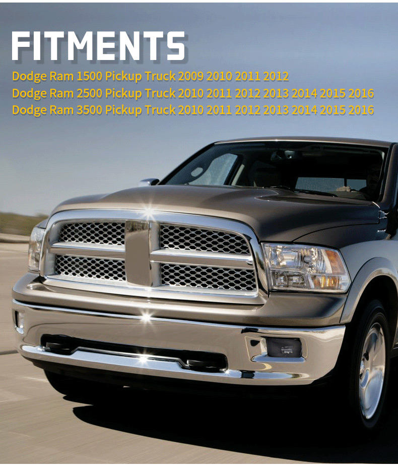 Dodge Ram 1500 2500 3500 Ajustement des phares antibrouillard LED