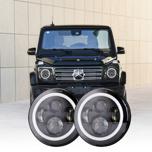 7 inch Round Mercedes Benz G Class Led Headlights Halo Mercedes G Class Headlights Replacement