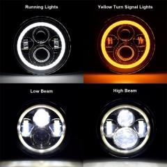7 بوصة جولة مرسيدس بنز الفئة G المصابيح الأمامية هالو مرسيدس G كلاس استبدال المصابيح الأمامية