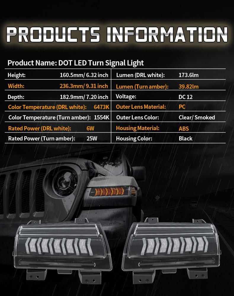 Jeep Informations sur les clignotants séquentiels JL