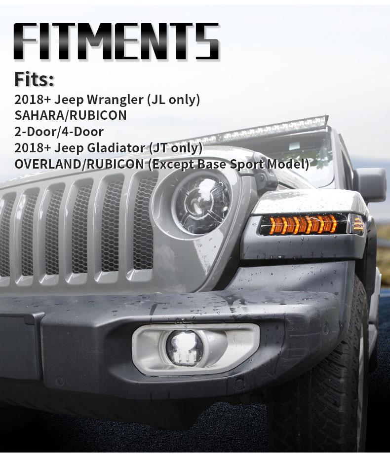 Jeep Équipement de clignotants séquentiels JL