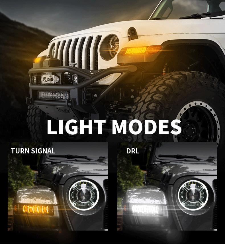 Jeep Modes d'éclairage des clignotants séquentiels JL