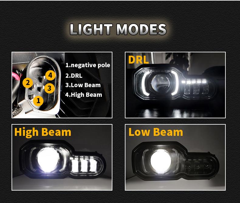 2008-2018 BMW F800GS a mené des faisceaux lumineux de phare