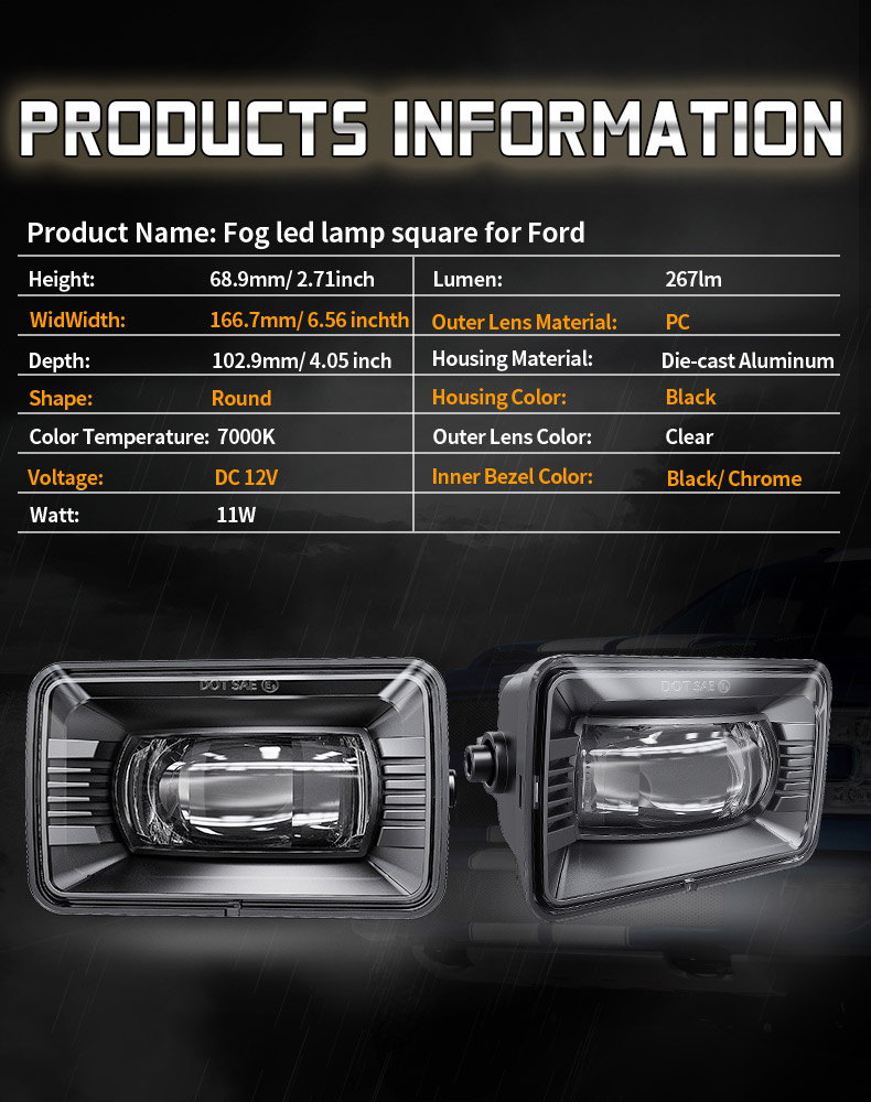 مواصفات فورد F150A مصابيح الضباب