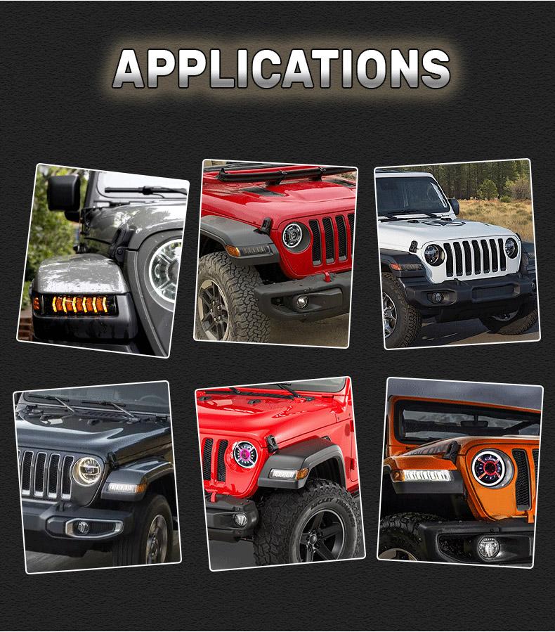 Jeep Application de clignotants à led JL