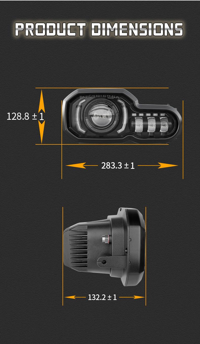 2008-2018 BMW F800GS a mené la dimension de phare
