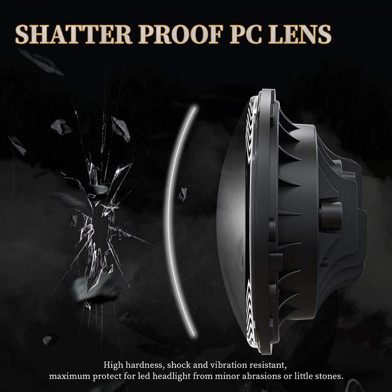 Lentille PC phare LED 7 pouces