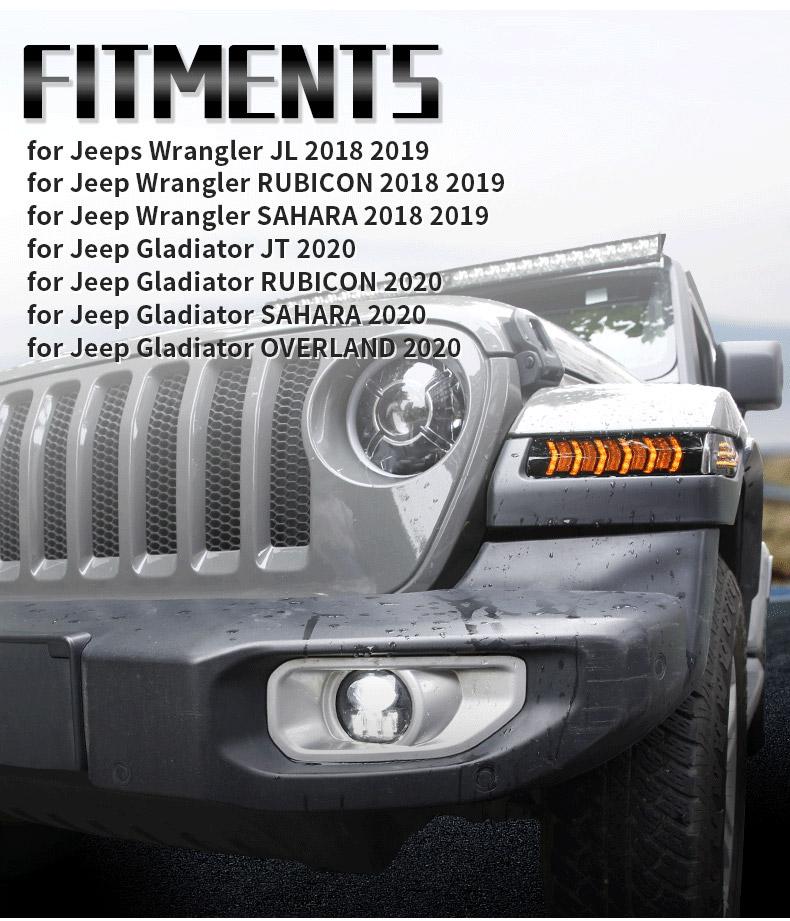 Jeep Raccords de clignotants à LED JL