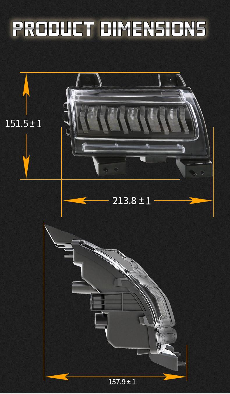 Jeep Taille des clignotants à led JL