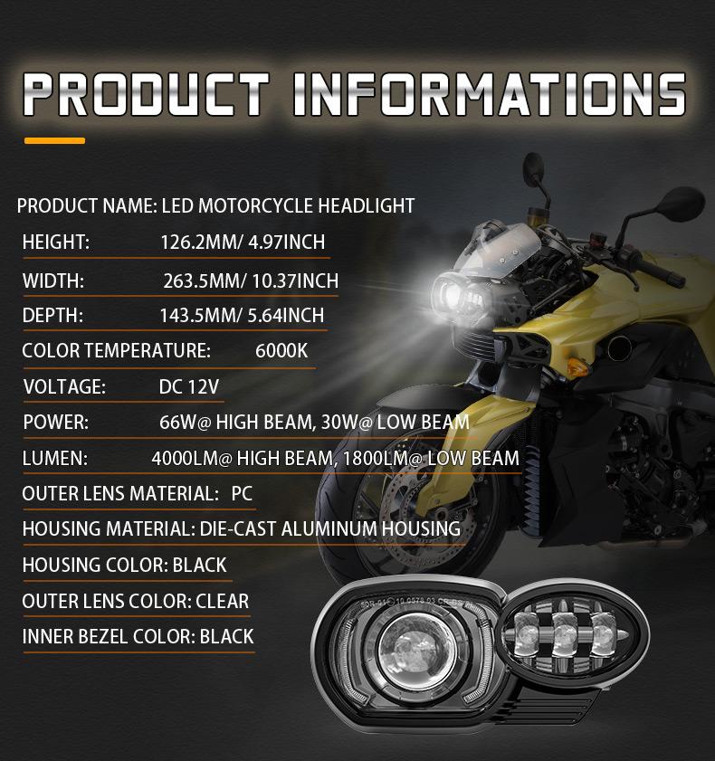 Especificación de faros delanteros LED BMW K1200R K1300R