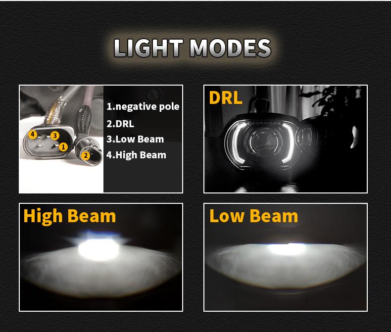 Modos de luz de faros LED BMW K1200R K1300R