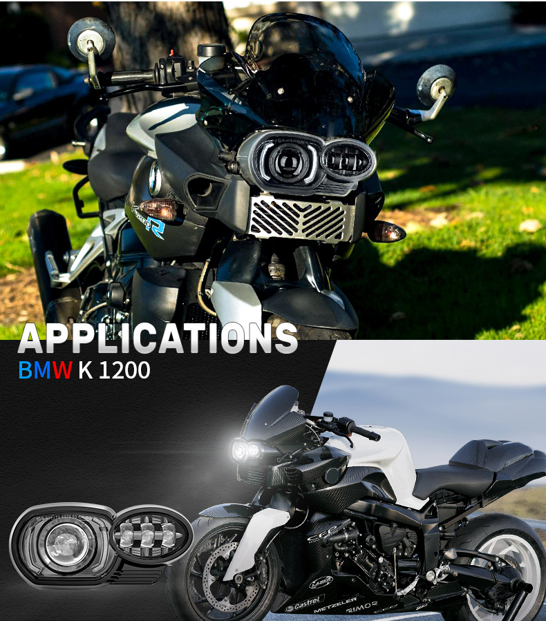 Aplicación de faros LED BMW K1200R K1300R