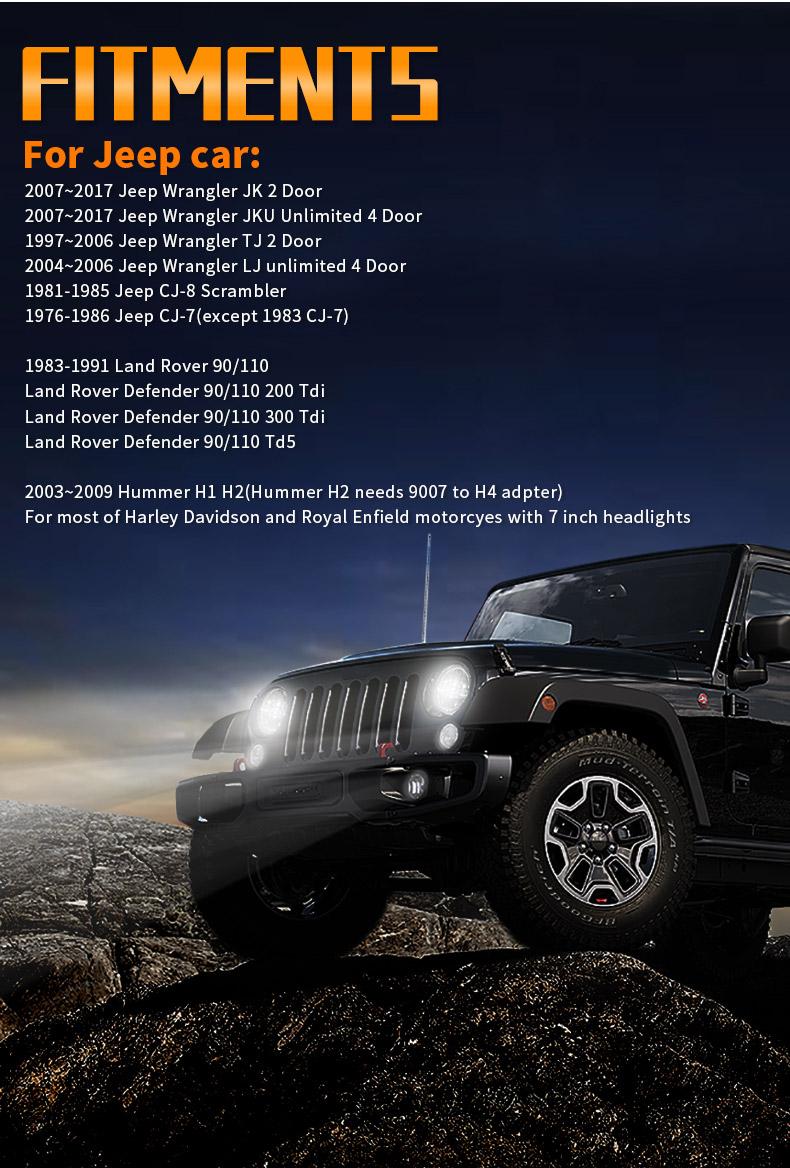 Jeep Montage des phares à LED JK