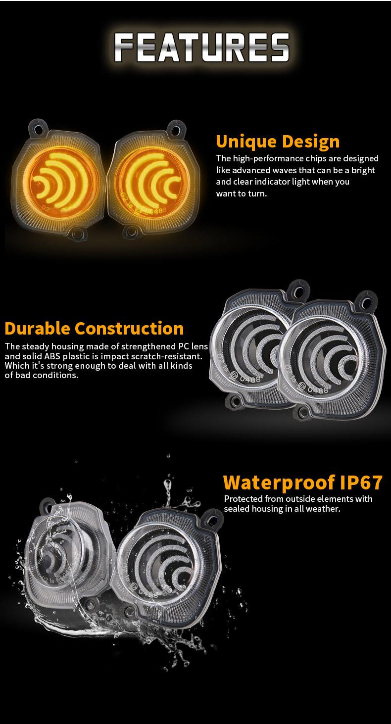 Características de los intermitentes delanteros LED Suzuki Jimny