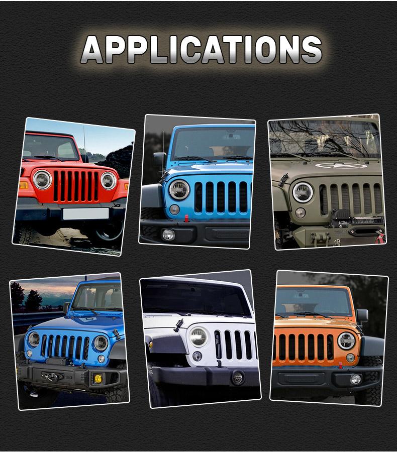Jeep Applications de phares à LED JK