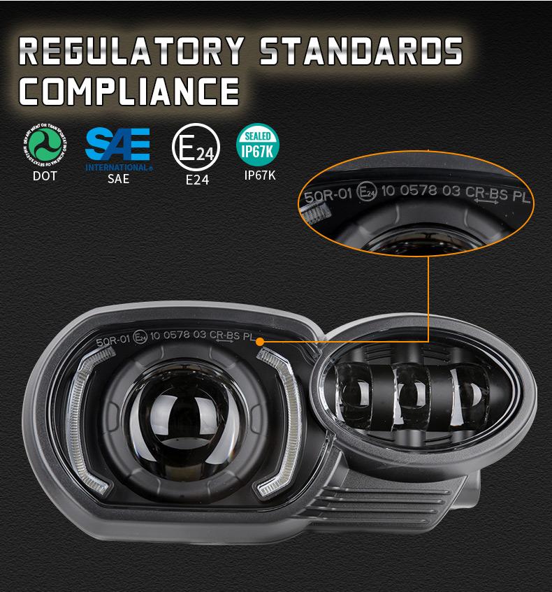 Certificados de faros LED BMW K1200R K1300R