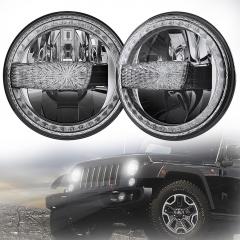 2007-2017 Jeep Wrangler Conversion de phares à LED JK Jeep Phares à LED JKU avec DRL blanc