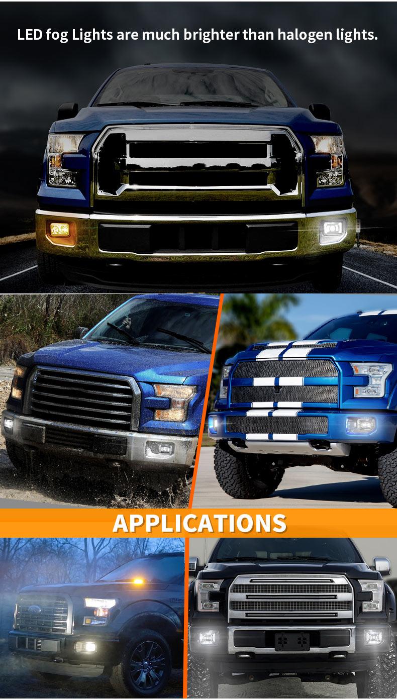 Ford F150 Led Fog Lights VS Halogen Lights