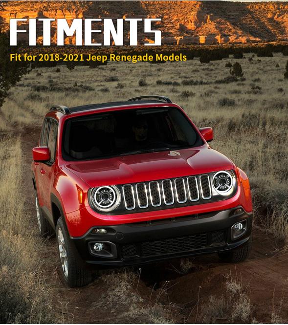 Jeep रेनेगेड एलईडी हेडलाइट्स फिटमेंट