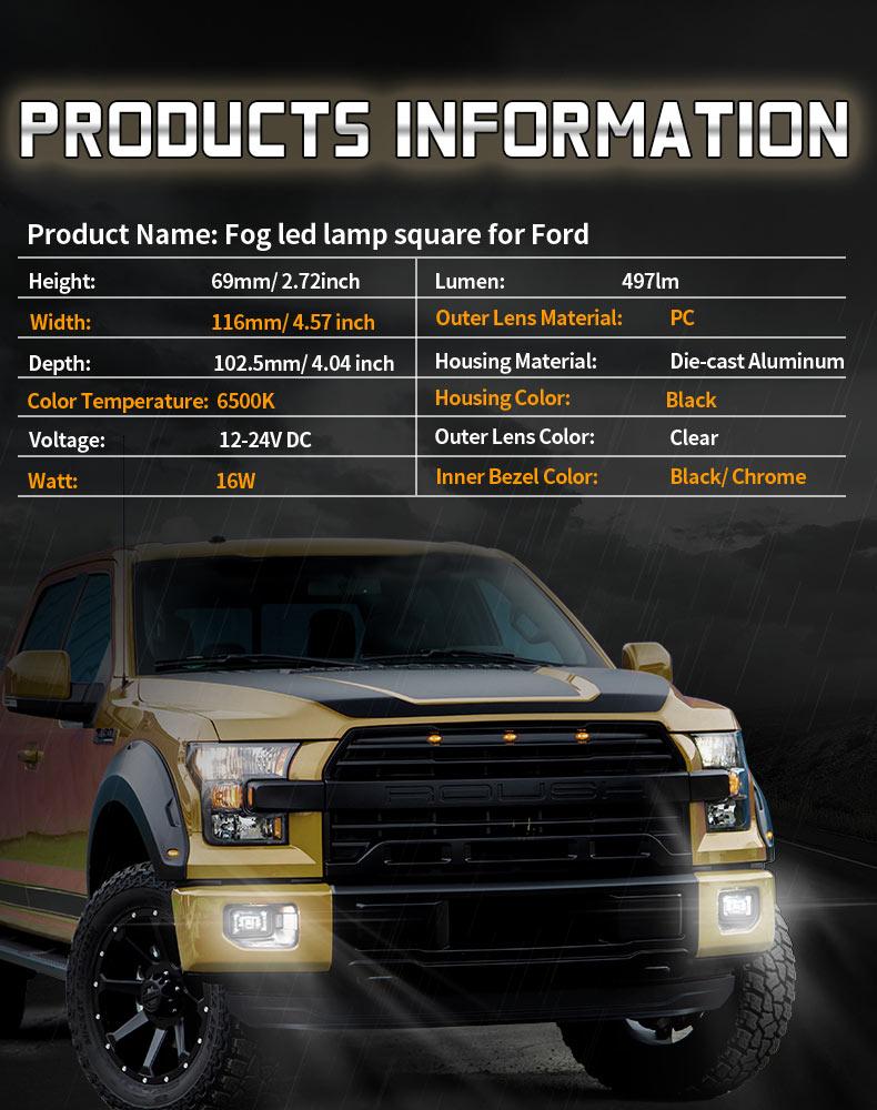 Specification of Ford F150 Led Fog Lights