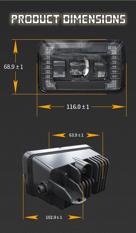 Ford F150 Led Fog Lights Dimension