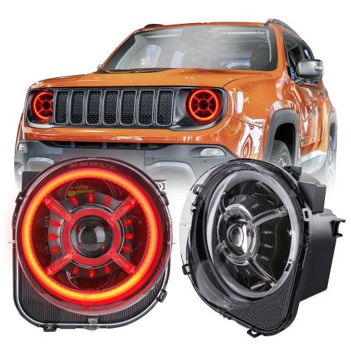 2015-2021 Jeep Renegade Halo Headlight Kulay ng Pagbabago ng RGB Halo Lights para sa Jeep Taksil